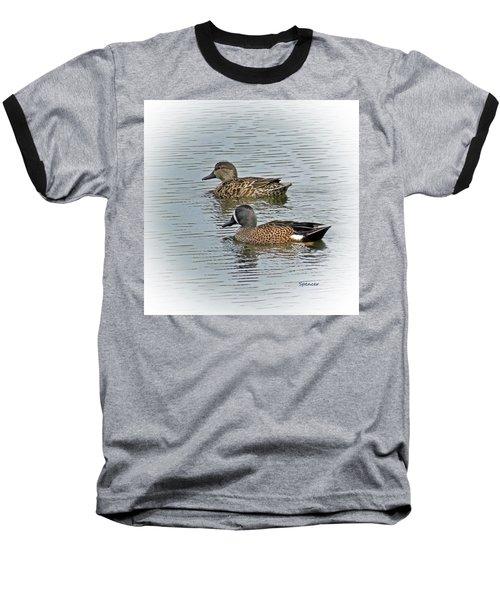 Teal Time Baseball T-Shirt