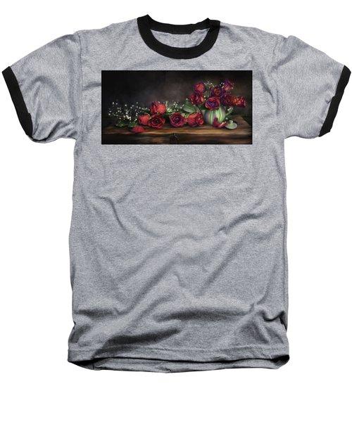 Teapot Roses Baseball T-Shirt