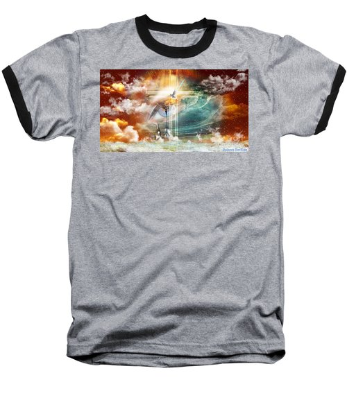 Baseball T-Shirt featuring the digital art Tears To Triumph by Dolores Develde