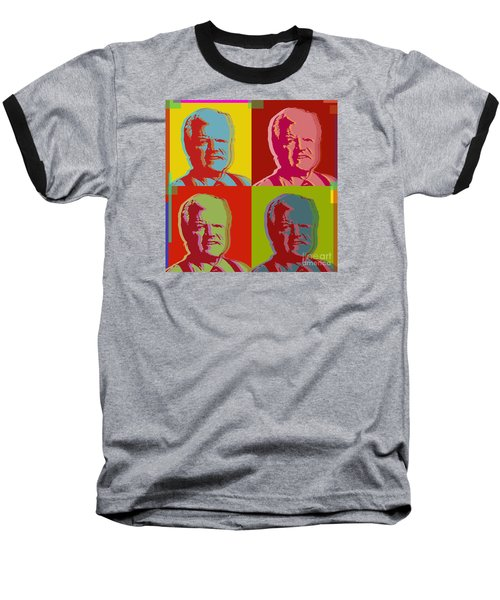 Baseball T-Shirt featuring the digital art Ted Kennedy by Jean luc Comperat