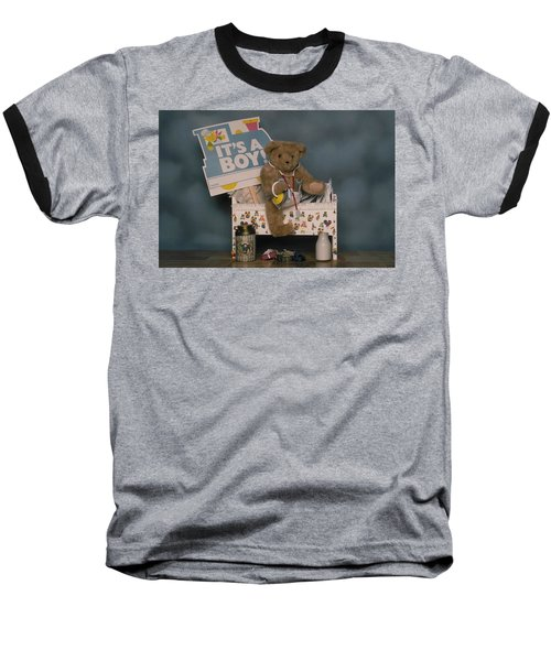 Teddy Bear - Its A Boy Baseball T-Shirt