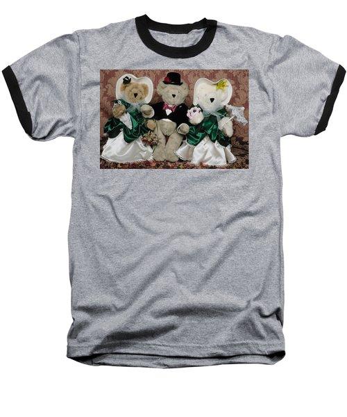 Teddy Bear Wedding Baseball T-Shirt
