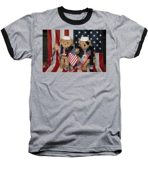 Teddy Bears In America Baseball T-Shirt