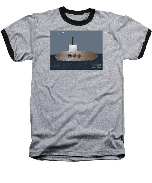 Teddy In Submarine Baseball T-Shirt