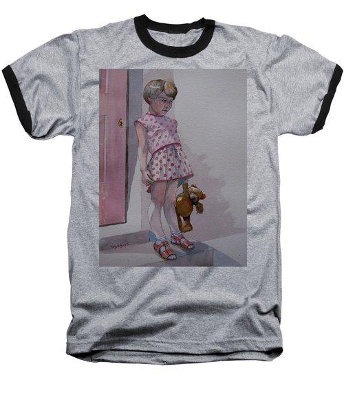 Teddy Baseball T-Shirt by Ray Agius