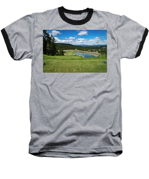Baseball T-Shirt featuring the photograph Tee Box With As View by Darcy Michaelchuk