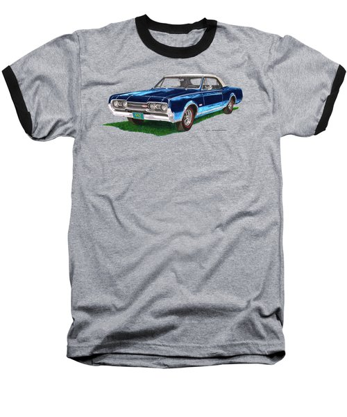 Tee Shirt Art 1967 Oldsmobile 4 4 2 Convertible Baseball T-Shirt