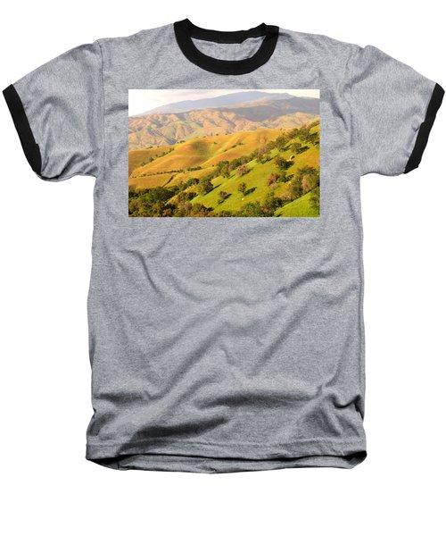 Tehachapi Topography Baseball T-Shirt