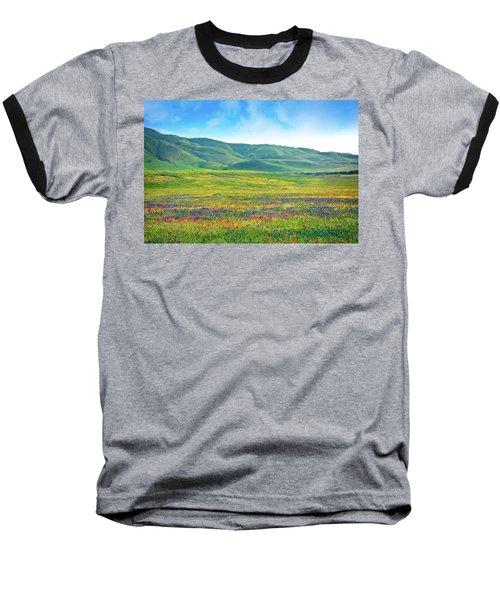 Tejon Ranch Wildflowers Baseball T-Shirt
