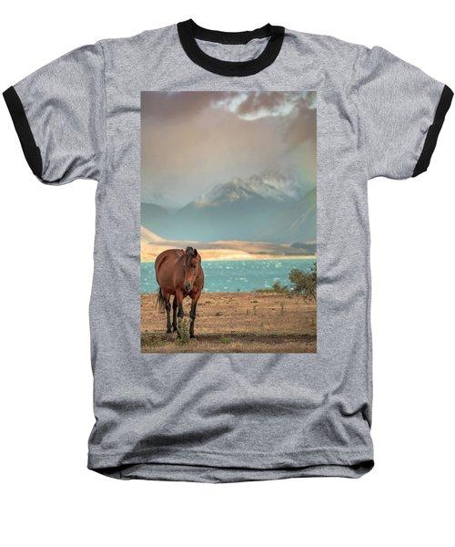 Tekapo Horse Baseball T-Shirt