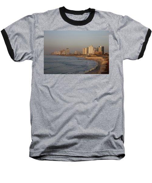 Tel Aviv Coast. Baseball T-Shirt