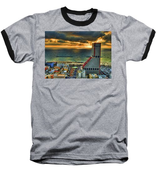 Baseball T-Shirt featuring the photograph Tel Aviv Lego by Ron Shoshani