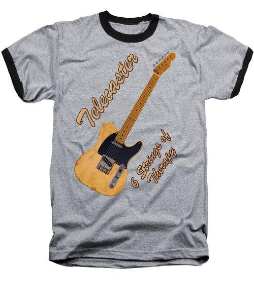 Telecaster Therapy T-shirt Baseball T-Shirt