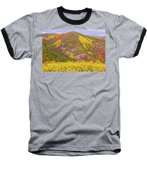 Baseball T-Shirt featuring the photograph Temblor Range Color by Marc Crumpler