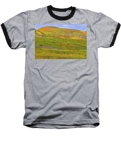 Baseball T-Shirt featuring the photograph Temblor Range Spring Color by Marc Crumpler