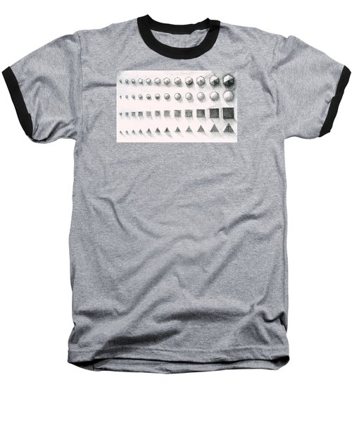 Baseball T-Shirt featuring the drawing Template by James Lanigan Thompson MFA