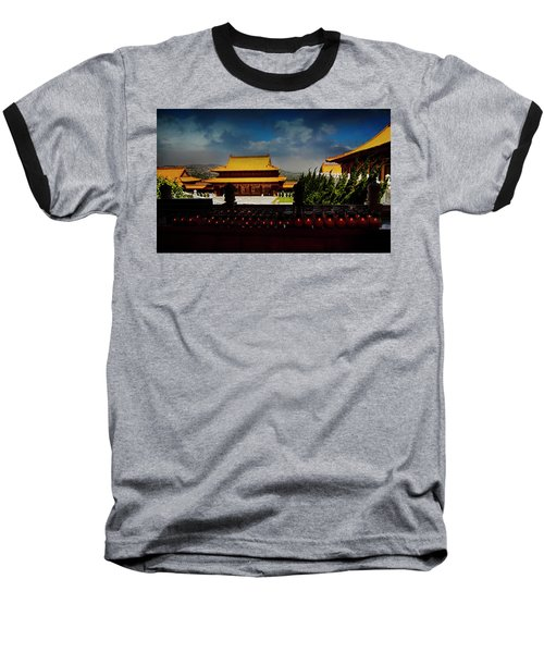 Baseball T-Shirt featuring the photograph Temple Candles by Joseph Hollingsworth
