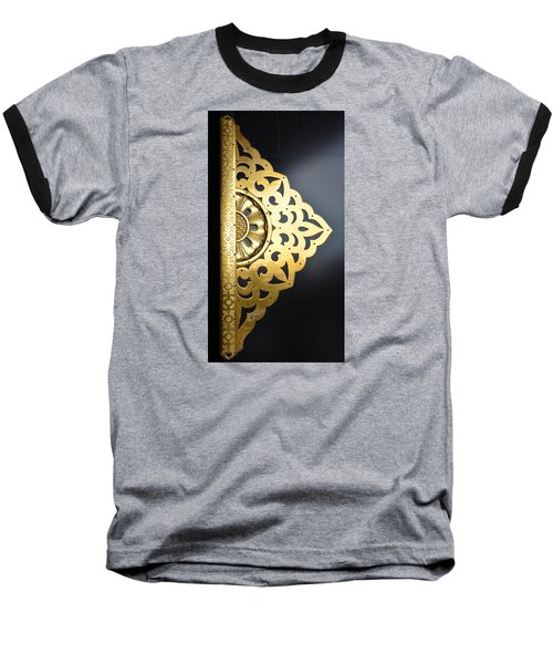 Temple Detail Baseball T-Shirt by Corinne Rhode