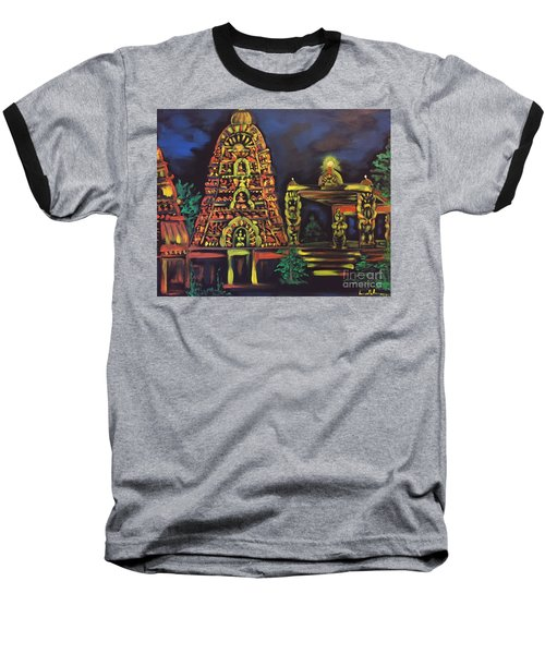 Temple Lights In The Night Baseball T-Shirt