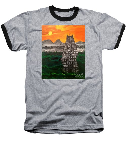Temple Near The Hills Baseball T-Shirt by Brindha Naveen