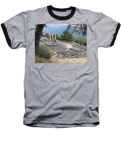 Temple Of Athena At Delphi Baseball T-Shirt