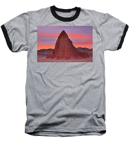 Temple Of The Sun And Moon At Sunrise At Capitol Reef National Park Baseball T-Shirt