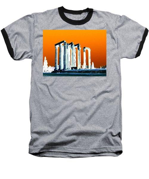 Temple Of Zeus, Athens Baseball T-Shirt by Karen J Shine