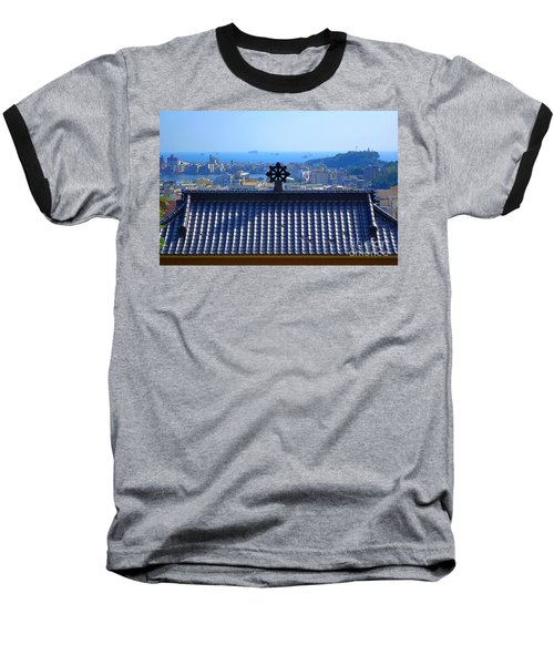 Temple Roof And Kaohsiung Port Baseball T-Shirt by Yali Shi