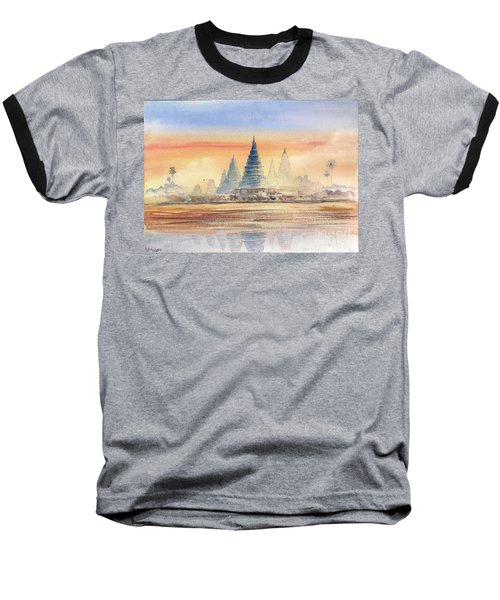 Temples In The Dusk Baseball T-Shirt