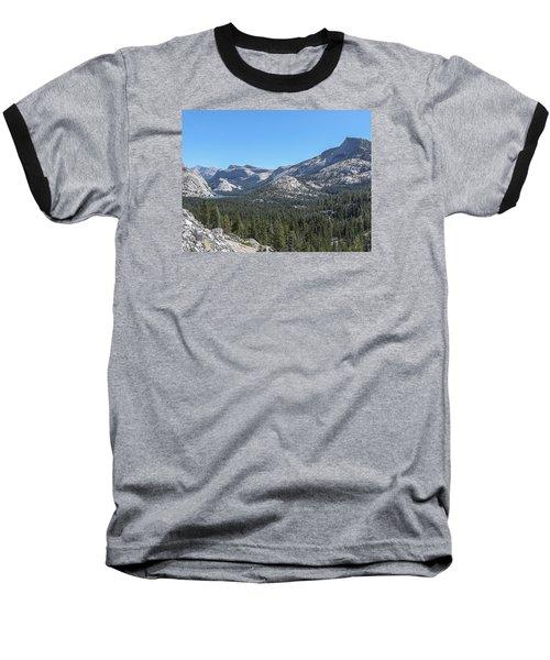 Tenaya Lake And Surrounding Mountains Yosemite National Park Baseball T-Shirt