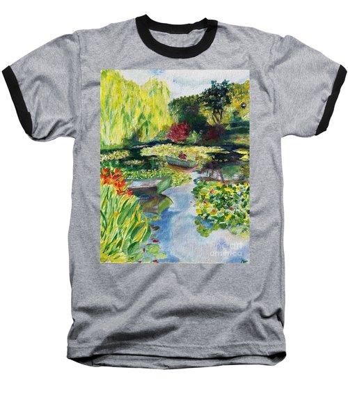 Tending The Pond Baseball T-Shirt