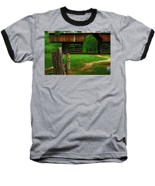 Baseball T-Shirt featuring the photograph Tennesse Barn by Rowana Ray