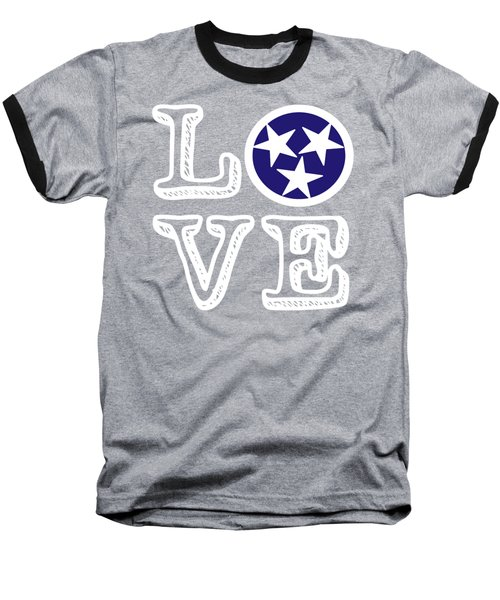 Baseball T-Shirt featuring the digital art Tennessee Flag Love by Heather Applegate