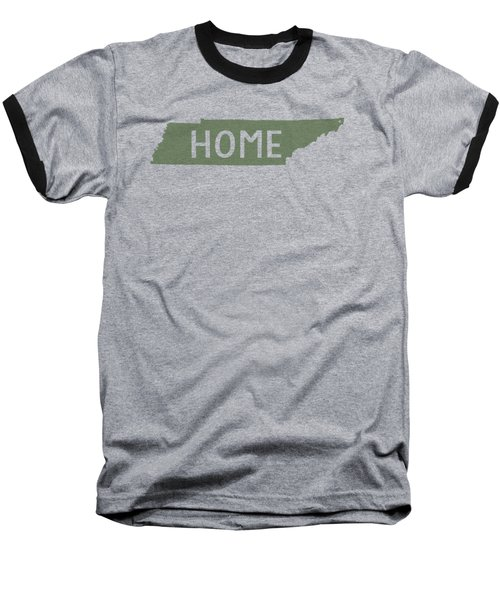 Baseball T-Shirt featuring the digital art Tennessee Home Green by Heather Applegate