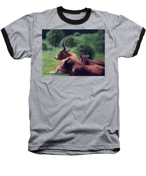 Tennessee Longhorn Steers Baseball T-Shirt by Janet King