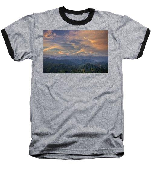 Tennessee Mountains Sunset Baseball T-Shirt