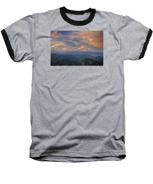 Tennessee Mountains Sunset Baseball T-Shirt