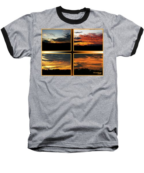 Tennessee Sunset Baseball T-Shirt by EricaMaxine  Price