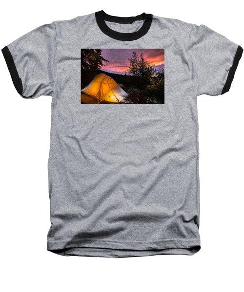 Tent At Sunset Baseball T-Shirt by Michael J Bauer