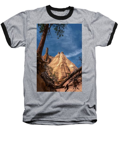 Tent Rock And Ponderosa Pine Baseball T-Shirt