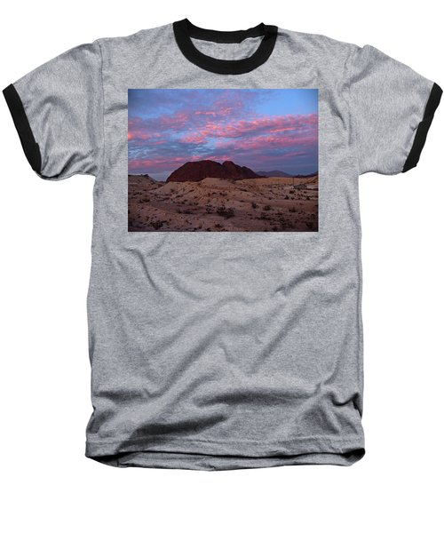Baseball T-Shirt featuring the painting Terlingua Sunset by Dennis Ciscel