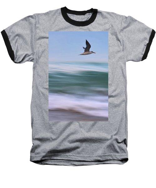 Baseball T-Shirt featuring the photograph Tern Flight Vert by Laura Fasulo