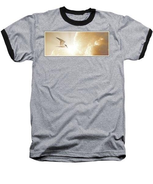 Tern In Flight, Spiritual Light Of Dusk Baseball T-Shirt