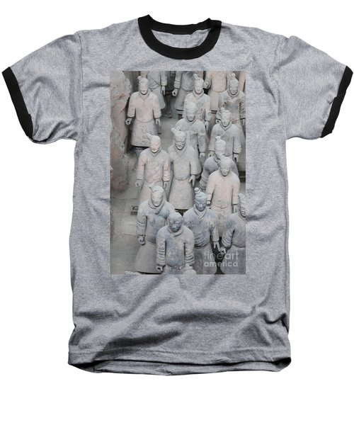 Terra Cotta Warriors Detail Baseball T-Shirt