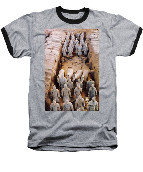 Baseball T-Shirt featuring the photograph Terracotta Army by Heiko Koehrer-Wagner