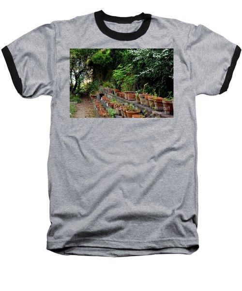 Terracotta Pots In The Botanical Gardens Of Pisa Italy Baseball T-Shirt