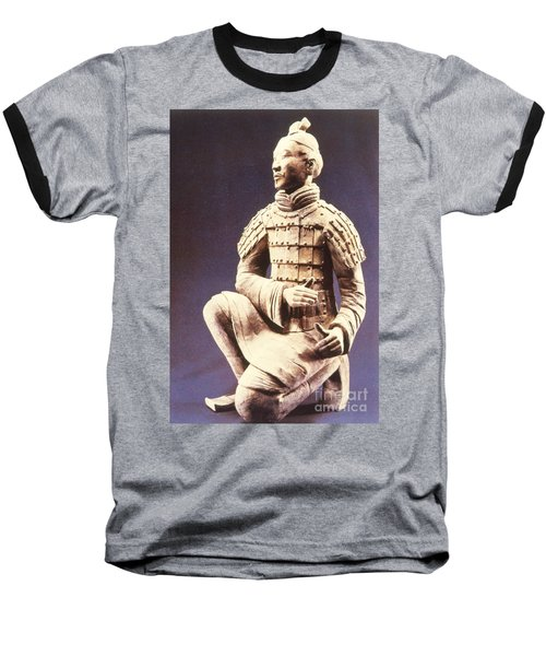 Baseball T-Shirt featuring the photograph Terracotta Soldier by Heiko Koehrer-Wagner