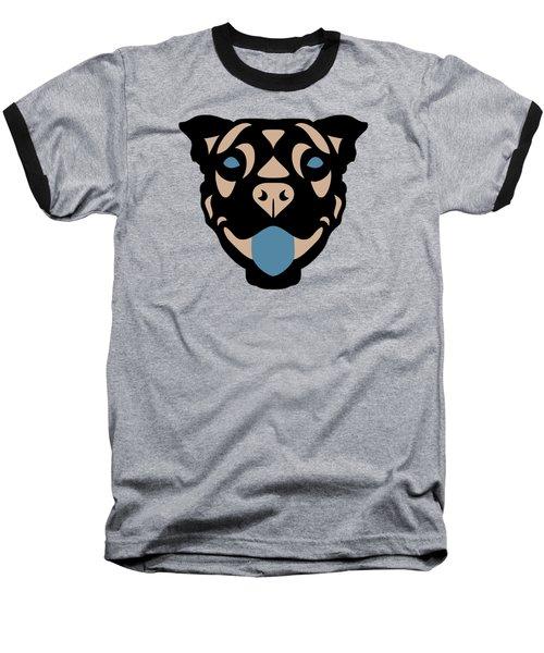 Terrier Terry - Dog Design - Greenery, Hazelnut, Niagara Blue Baseball T-Shirt