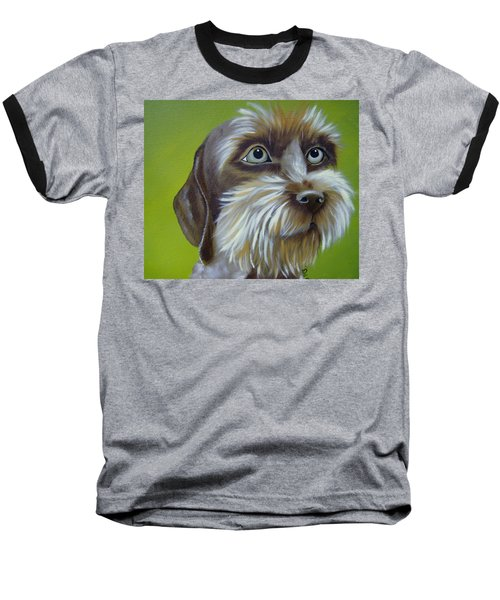 Terrier Waiting Patiently Baseball T-Shirt