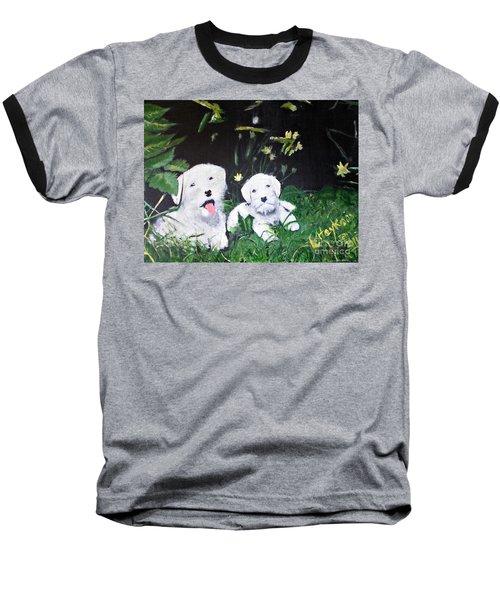 Terriers' Farm Pals. Baseball T-Shirt by Francine Heykoop